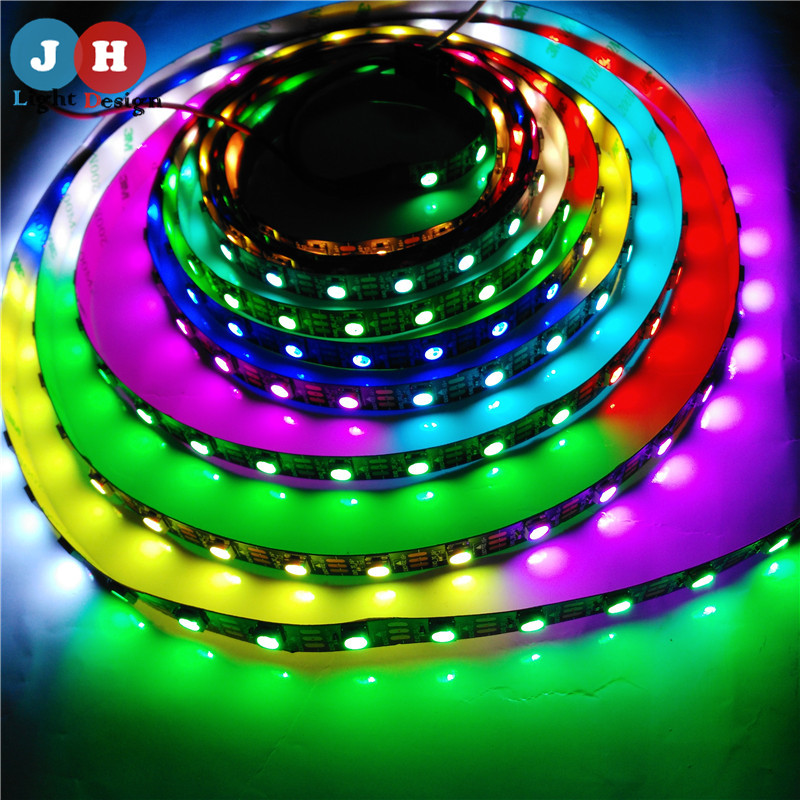 Newest 1M/5M WS2812B 60Leds/m 5V Black Version LED Chip WS2812 Individually Addressable Digital RGB LED Strip<br><br>Aliexpress