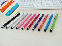 For iPhone iPad Tablet For Samsung Galaxy Note Phone Cellphone Crystal Capacitive Touch Screen Handwriting Stylus Pen 30pcs/lot