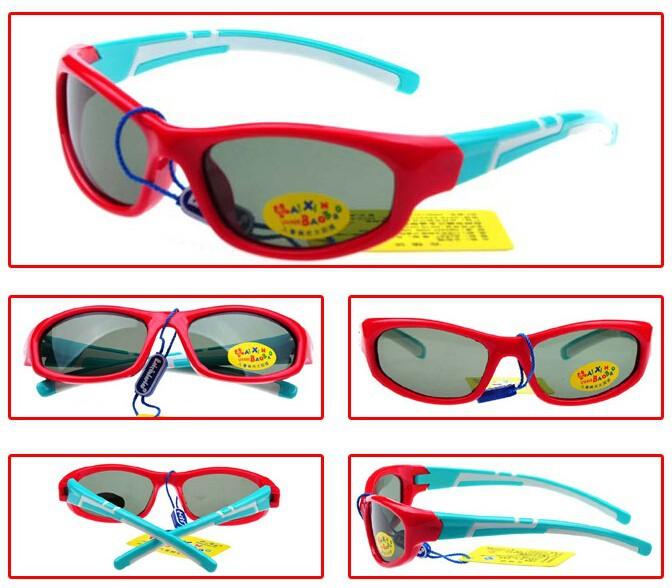 Лучшее детям TR90 поляризованные очки ребенок дети солнцезащитные очки для мальчиков девочек спортивная солнцезащитные очки жк-поляроид линзы марка качества 1306