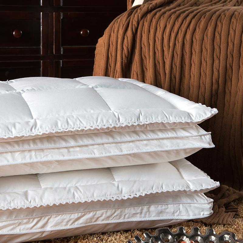 Papa&Mima luxury multifunctional neck pillows duck/goose down/memory foam filler 80s cotton pillowcase 48x74cm bedding pillows(China (Mainland))