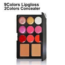 Hot sale beauty makeup sets  Lip Gloss Concealer Powder Makeup Palette fashion 11 Colors