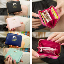 Best Sale Women Leather Wallets 100% Soft PU Leather Small Coin Purse Clutches Wallet for Women Wallets Short Purses Bag