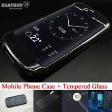 ZUANDUN Full Case For YotaPhone 2 Slim Crystal Rubber Stand Cover For YotaPhone 2 Front Tempered Glass + Back HD Clear Film(China (Mainland))