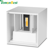 White Shell COB Cube LED Wall Lamp Waterproof IP65 7W Aluminum Light Modern Home Lighting Indoor Outdoor Decoration AC 220V(China (Mainland))