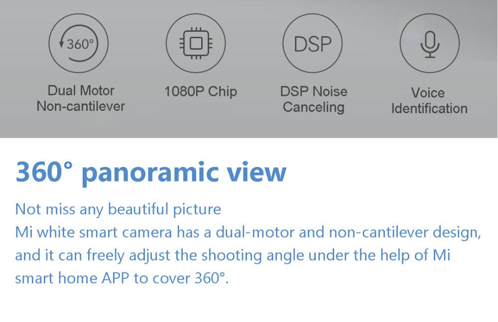 ถูก ต้นฉบับXiaomi 2016คืนวิสัยทัศน์ใหม่1080จุด360นาฬิกาและพูดคุยไร้สายสมาร์ทกล้องIPระบบรักษาความปลอดภัยบ้านพาโนรามา