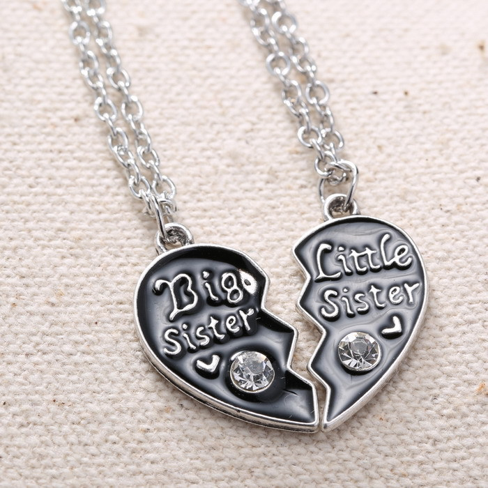 Гаджет  Unique Personalized Gift for family Big sister Little Sister Couple Necklaces Gifts For Family HandStamped Jewelry None Ювелирные изделия и часы