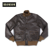 2016 new arrival us air force A1 goat skin leather vintage jacket free shipping(China (Mainland))