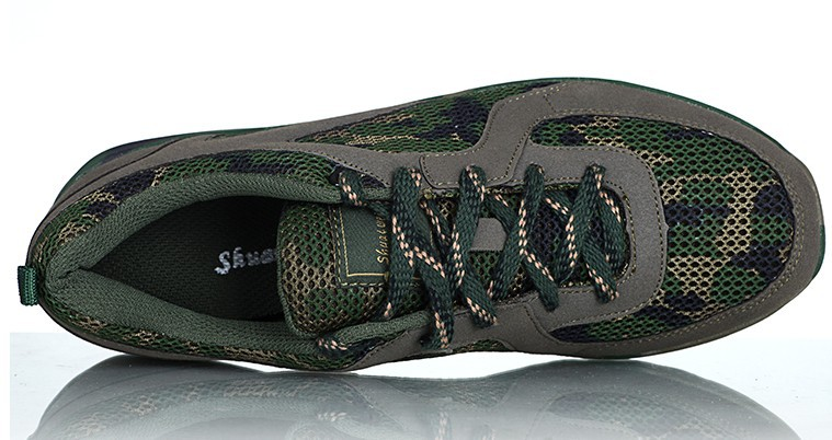 Outdoor shoes hiking woodland camouflage off-road ultra-light breathable mesh Army fans