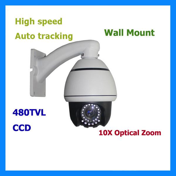 Auto Tracking CCTV Sony EFFIO 700TV Line IR Day/Night 10x High-speed Dome PTZ Indoor PTZ speed Dome kamera(China (Mainland))
