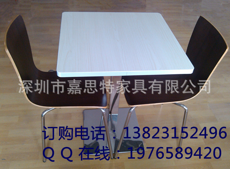 Pingshan shelf factory direct snack tables and chairs Formica dinette Firewood Cafe(China (Mainland))