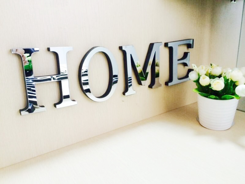 10cmx8cmx1.2cm(thick) wedding love letters Home decoration English 3D mirror wall Stickers Alphabet Home Decor LOGO For wall(China (Mainland))