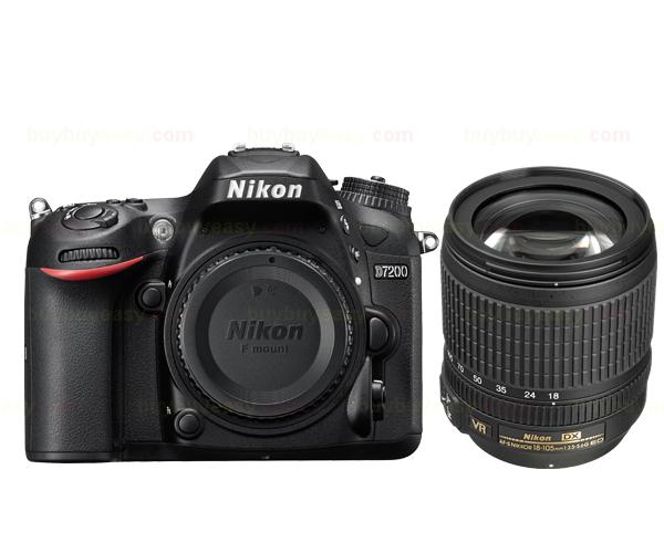 Nikon D7200 DSLR Camera Body & AF-S DX NIKKOR 18-105mm f/3.5-5.6G ED VR Lens(Hong Kong)