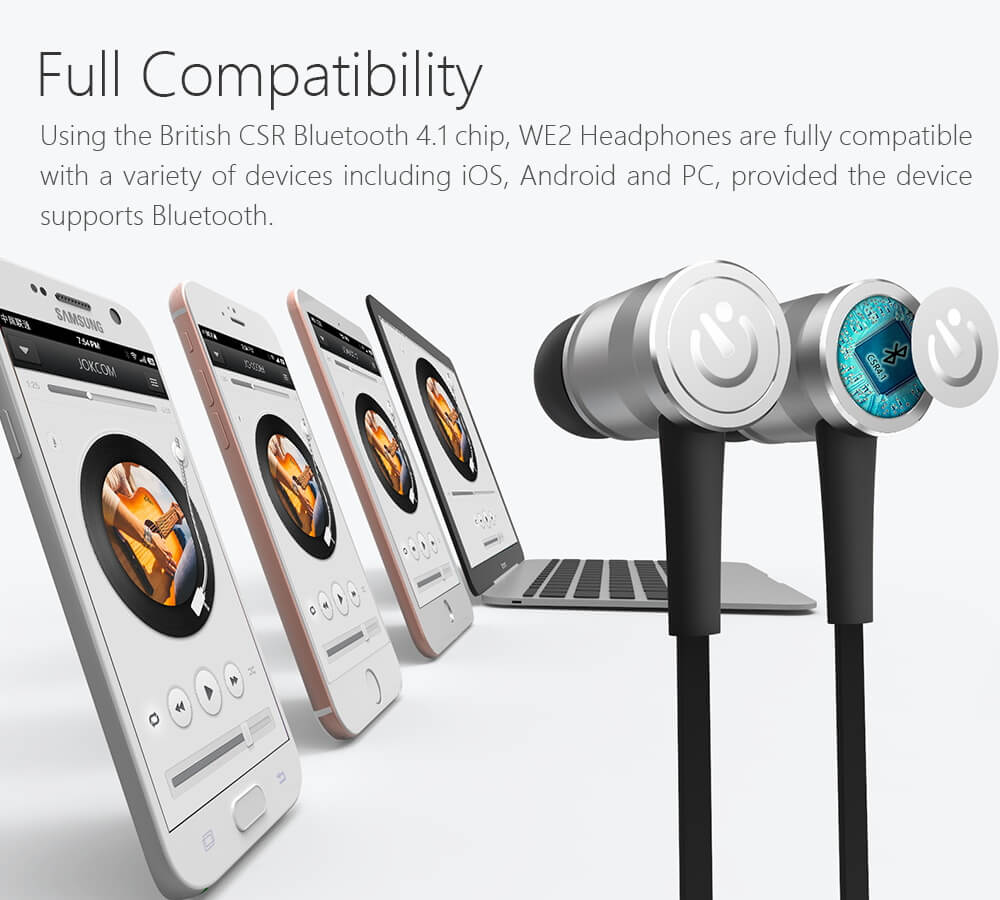 Jakcom WE2 Wearable Bluetooth Headphones New Product Of Digital Voice Recorders As Lapicera Espia V59 Digital Recorder