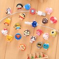 100pcs lot Cartoon Cable Protector Cover Earphone Charging Data Line Cord Protection Sleeves Cable Winder For