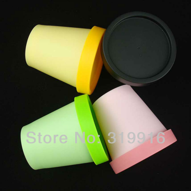 200g X 36 cylinder empty cream plastic container , colored PP cosmetic bottles, round mask jar pot lids, packaging - Packaging E shop store