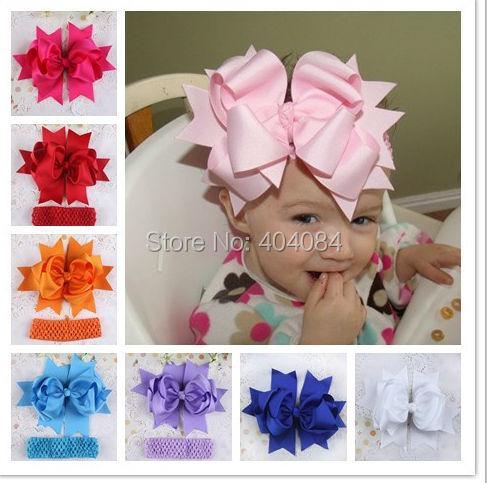 aliexpress 7 8inch big bow headband for newborn