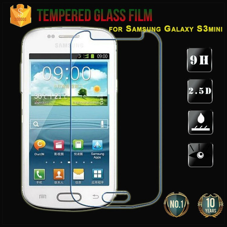 Top Quality for Samsung galaxy S3mini tempered glass protector film, HD glass protective film S3 mini i8190 Case Screen film(China (Mainland))