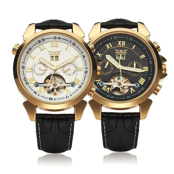 Jaragar автоматические механические роскошные маховик мужские наручные часы