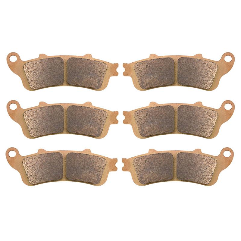 Motorcycle Parts Copper Based Sintered Brake Pads Kit For HONDA ST1100A 1996-2002 ST1300 Pan European ABS 2002-2007 Brake Disk