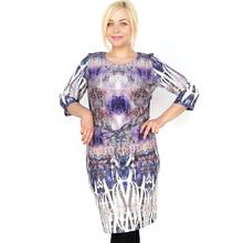 BFDADI 2016 новые летние платья женские мечта шаблон туника дамы свободного покроя платья с о-образным шеи винтажное платье женское Большой размер 3687 - 20(China (Mainland))