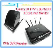 Drop shipping hot Galaxy D4 FPV 5.8G 32CH LCD 8 Inch Monitor With DVR Receiver for dji QR 350PRO rc GPS FPV system qua girl gift