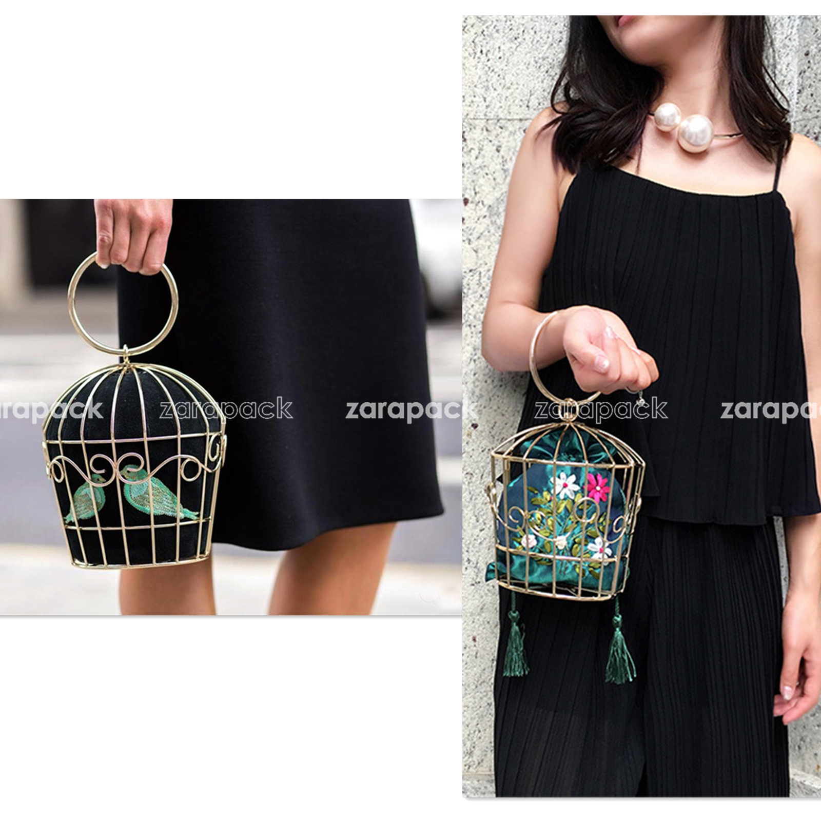 Designer Metal Birdcage Shape Bag Clutch With Changeable Inner Pouch Part Bag(China (Mainland))
