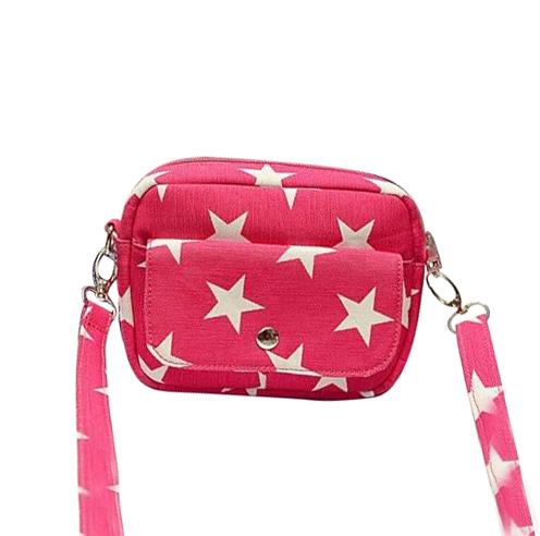 2016 women canvas Messenger Bag Fashion summer printing five-pointed star small handbags phone bag Crossbody Coin Purse DY701(China (Mainland))