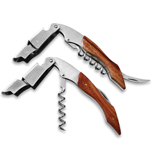High Quality Wood Handle Professional Wine Opener Multifunction Portable Screw Corkscrew Wine Bottle Opener Cook Tools IA542 P62(China (Mainland))
