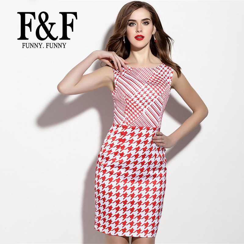 Cute Red Striped Patchwork Ladies Dress 2016 Summer Style Brand New Bodycon Prom Print Dress American Apparel FunnyFunny(China (Mainland))