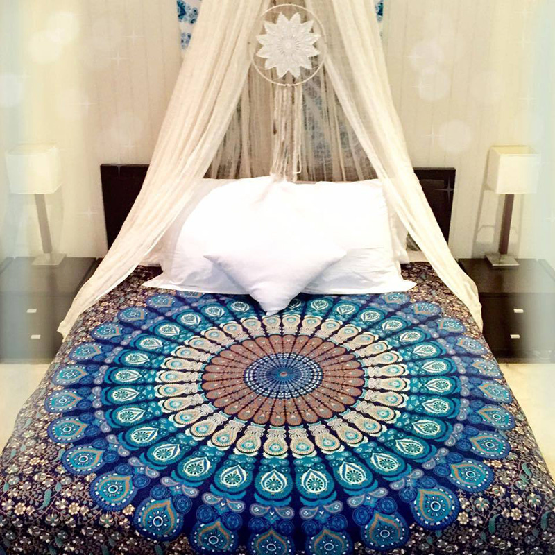 210*148cm Indian Mandala Tapestry Hippie Peacock Printed Rectange Wall Hanging Rectangle Boho Beach Towel Yoga Mat Home Decor