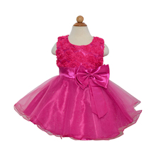 2015 new baby girl flowers dress for party and wedding children princess costume kids clothes 1 years birthday dresses for girls(China (Mainland))
