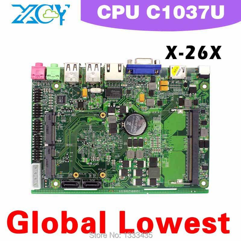Low price and best quality XCY X-26x Mini-ITX motherboard ATX mini motherboard Intel celeron c1037u mini main board 2*MIC, 2*SPK(China (Mainland))