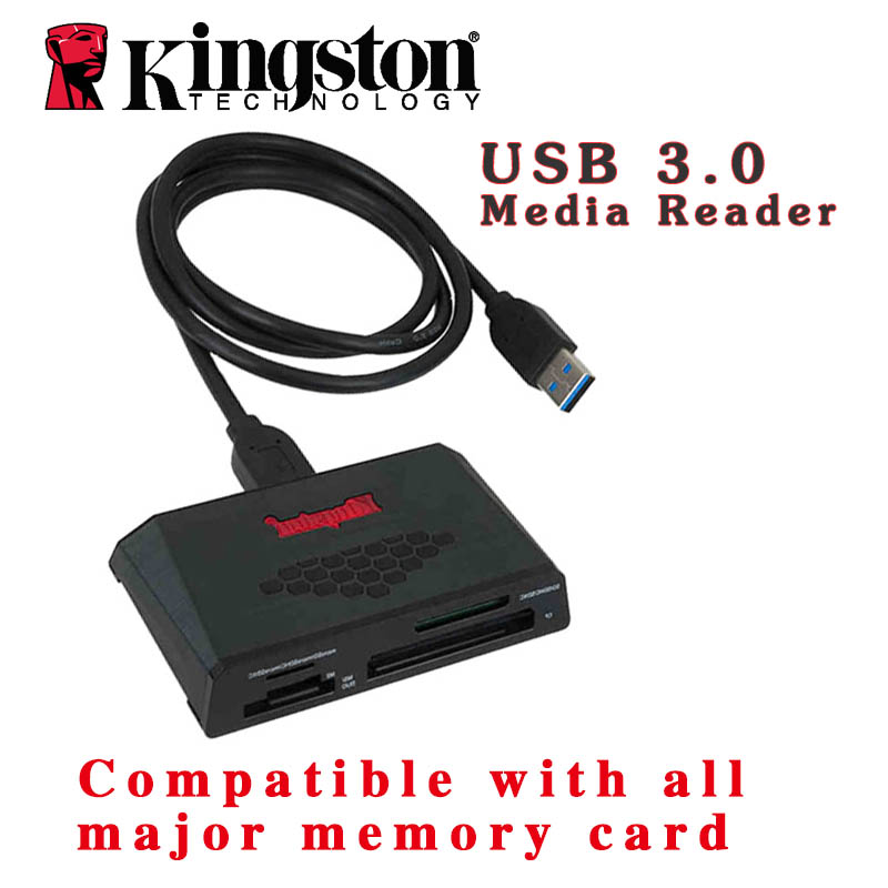 Kingston card reader usb sd 3.0 all in one cardreader CF SDHC SDXC UHS-I microSD Memory Stick PRO Duo otg card reader(China (Mainland))