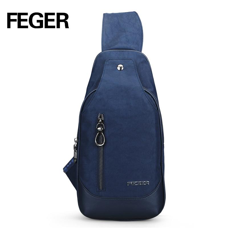 designer inspired handbags gllk  FEGER Casual Durable Soft Nylon Mens Messenger Bags Small Travel Sling Bag  Trendy Solid Unisex Couple Chest Pack Free Shipping
