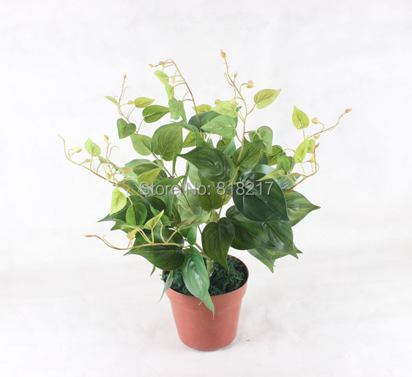 Lifelike Gem leaves artificial plants and flowers Indoor /outdoor decoration(China (Mainland))