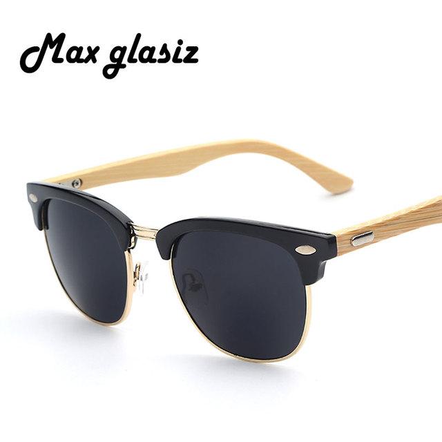 2016 Новый бренд дизайнер бамбука солнцезащитные очки древесины для женщины мужчины ...