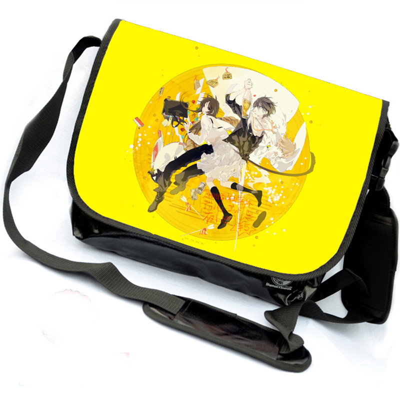 Anime Fashion Noragami Bag Women Men Yato School Messenger Bags Cartoon Canvas Satchel Travel Shoulder Bags