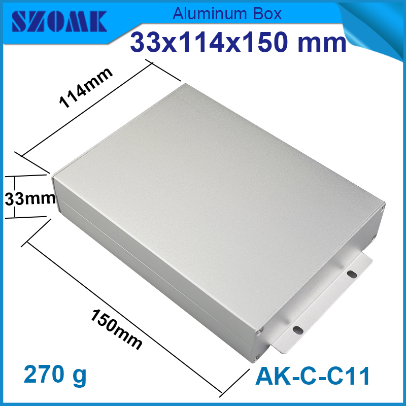4 pcs/lot cabinet extrution aluminum in silver powder coaitng and wall mounting aluminum cabinet case 33(H)x114(W)x150(L)mm(China (Mainland))