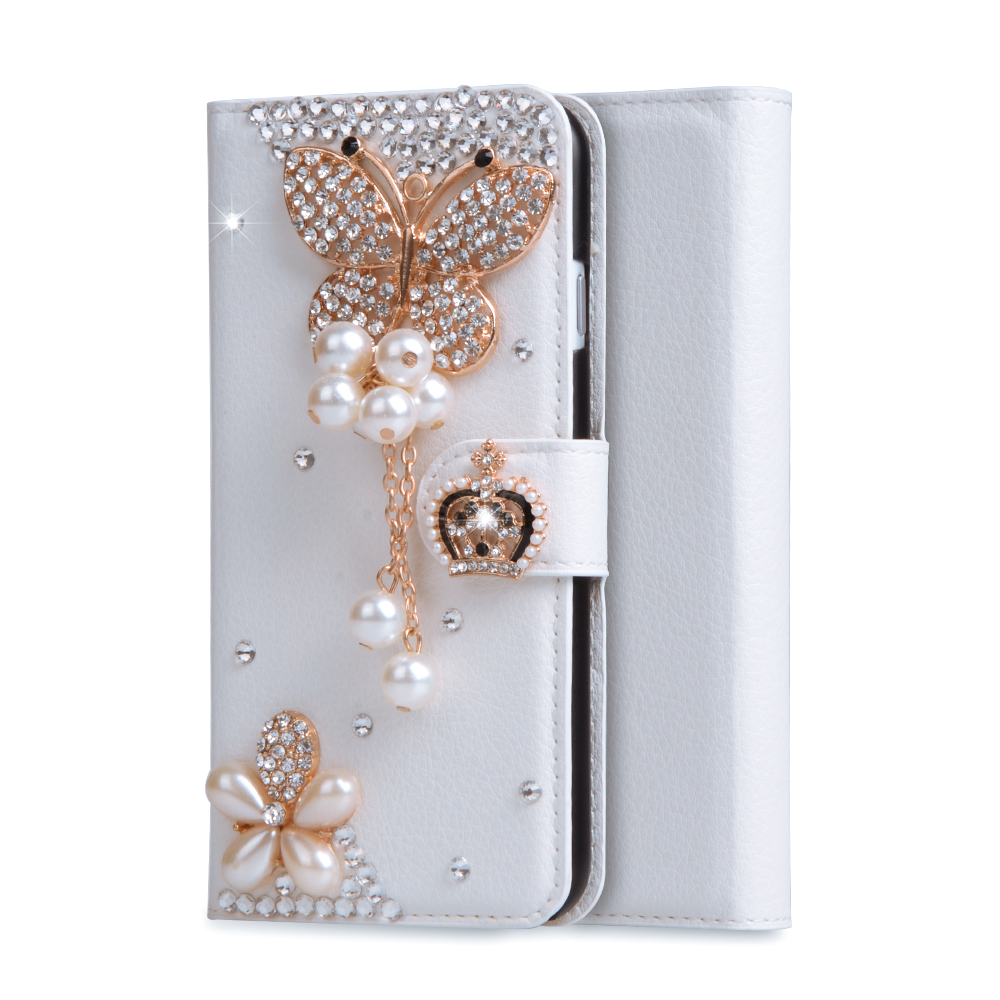 For HTC M9 Luxury Wallet Stand Flip PU Leather Elegance Diamond Case For HTC One M9 M9W / One Hima / One S9 Handmade Cover Bags(China (Mainland))