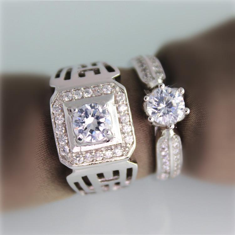 Кольцо Ulove Aliancas Casamento Ouro Anillos Moda 18k 60% JX001  Couple rings кольцо luoyang anel solitario ouro 18k yue83