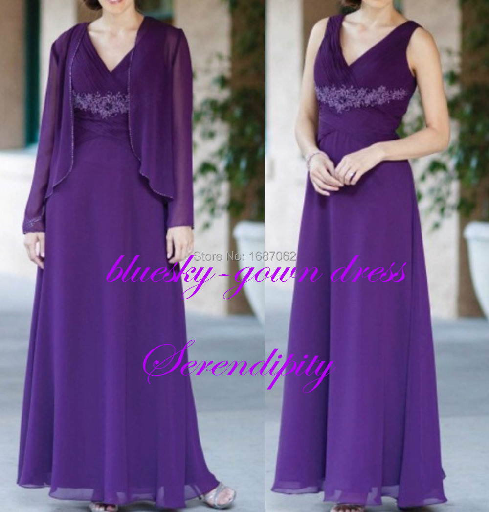 Mother Of The Bride Dress Plus Size Purple - Overlay Wedding Dresses