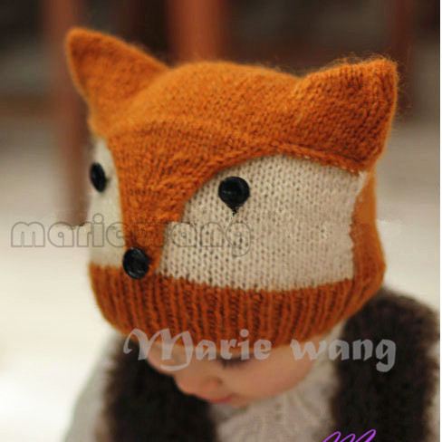 New stlyle Handmade Knitted Baby Beanie Hat Crochet Pattern Childrens Fo...