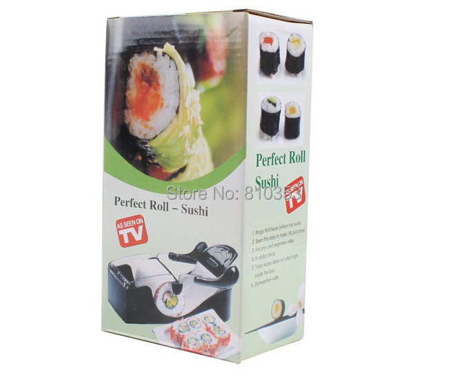 Easy Sushi Maker Roller Equipment Roll Sushi With Color Box ,1Pcs/Set.Kitchen Accessories(China (Mainland))
