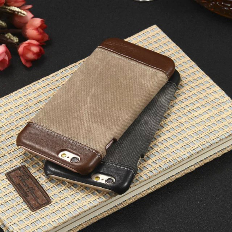 Luxury PU Leather Canvas Wallet Case For iPhone 6 6S/5S 5/6 6s Plus Soft Phone Case Cover for Apple iPhone6 6S(China (Mainland))