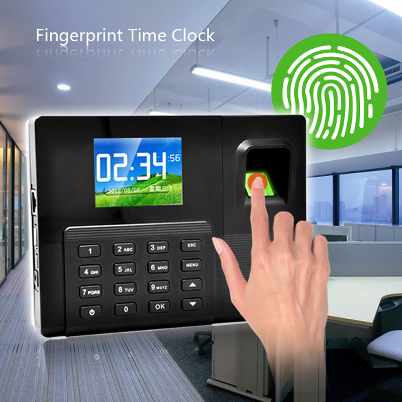 High Quality Voice Definition 2.8'' TFT Color Screen Fingerprint Time Attendance Time Clock with TCP/IP Free Shipping(China (Mainland))