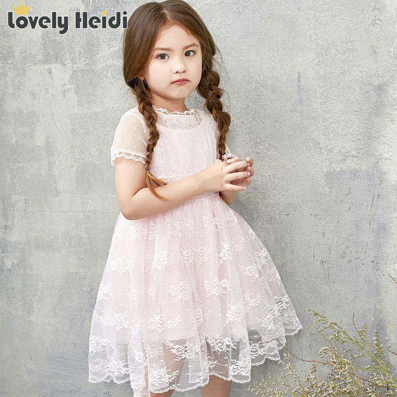 Summer 2016 princess baby girls dresses kids Pageant toddler girl clothing lace wedding party dresses for 2-8y tutu dress(China (Mainland))