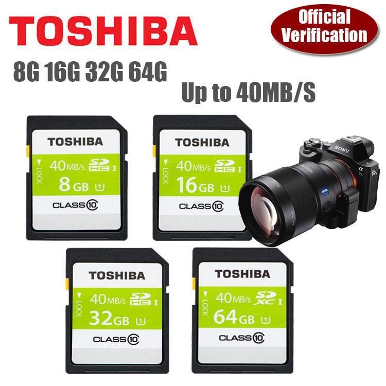 Карта памяти 2015 100% Toshiba SD 8 16 32 64 10 40MB 2015 100