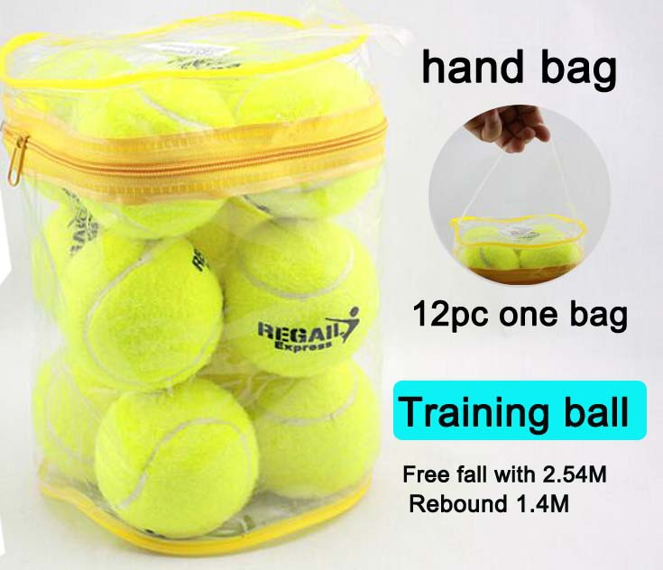 Free Shipping Wholesale 12pcs Brand New High Resilience 1.4 meters Tennis Ball Durable Tranning Exercise Practice Tennis Ball(China (Mainland))