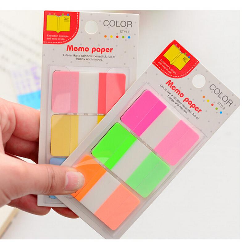 Гаджет  Cute Rainbow Transparent Sticker Post It Bookmark Point Mark Flags Sticky Notes Colors Random None Офисные и Школьные принадлежности