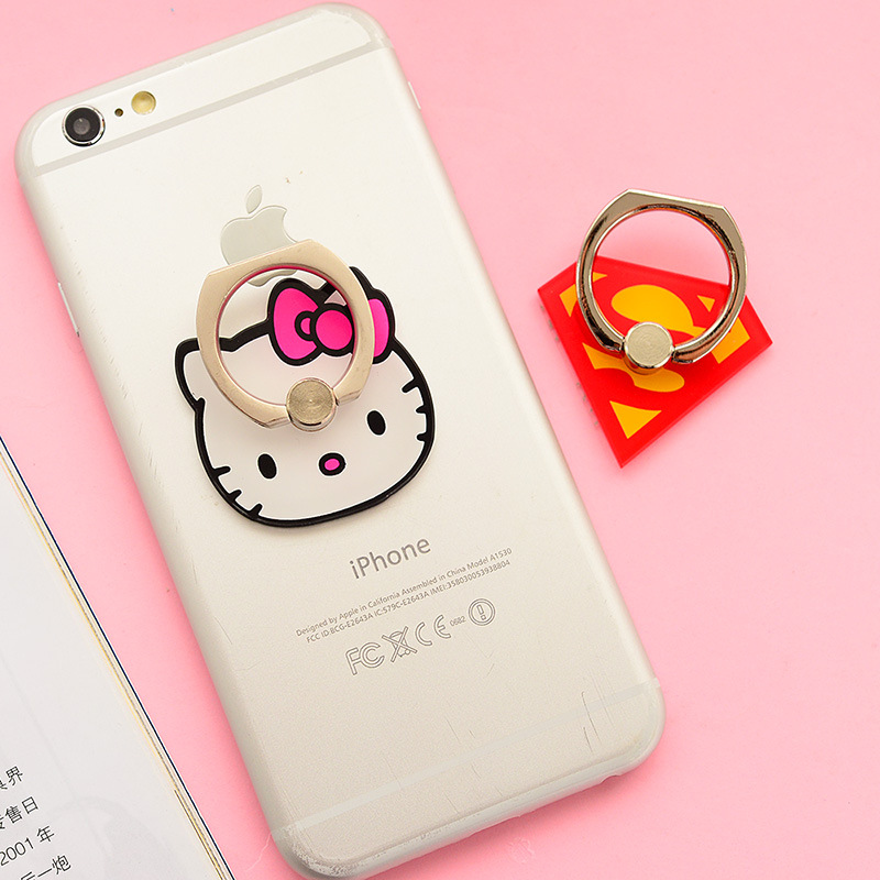 360 Degree HelloKitty Catoon Ring Phone Holder For Samsung Galaxy S7/S4/Note3/Note5 Tablets Stander Universal Finger Stand Grip(China (Mainland))